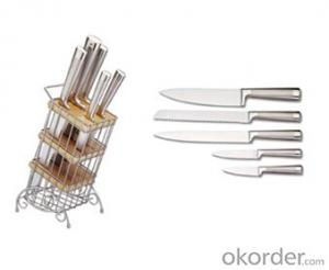 Art no. BLB42 Stainless steel knife set for kitchen
