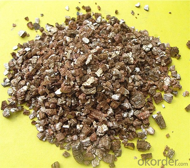 Raw Unexpended Golden Vermiculite Ore Sale 0.3-1MM