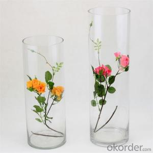 New design fashion clear glass vase home decoration glass vases