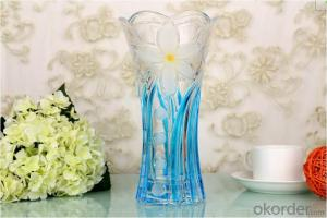 Wholesale Elegant Decorative Tall Glass Vase