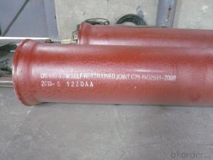 Ductile Iron Pipes & Factory Prices C25 EN545/EN598/ISO2531 DN300