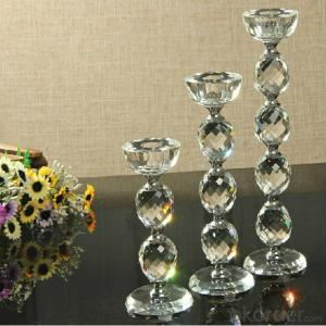 Clear empty glass hyacinth vase ,New Design Crystal Candle Holder,