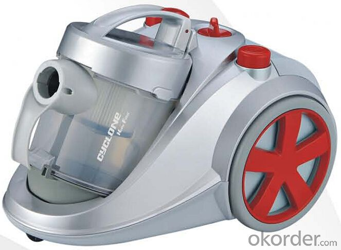 Cyclonic vacuum cleaner with inlet HEPA filter#C93