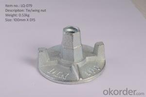 Scaffolding accessories wing nut fit with tie rod