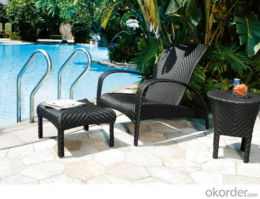 Outdoor Rattan Sun Lounger SPA Patio Chair Chaise Lounger