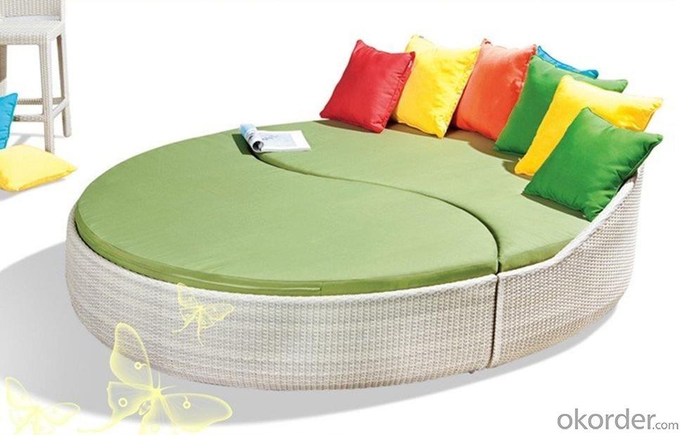 buy outdoor rattan sun bed sun lounge chaise wicker garden. Black Bedroom Furniture Sets. Home Design Ideas