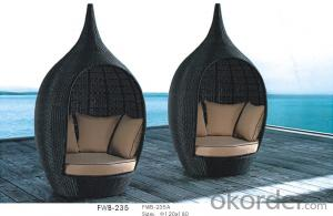 Outdoor Rattan Sun Bed Sun Lounge Chaise Loungers