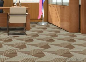 100% Nylon Tufted Fireproof Commercial Office Carpet Tiles
