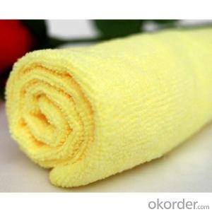 Microfiber towel for household cleaning with yellow color