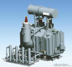 260MVA/800kV single phase water cooling main transformer for the hydro power station