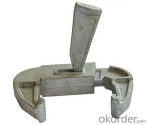 Scaffold formwork cast clamps lock with wedge pin