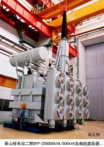 370MVA/525kV single phase double winding generator transformer Power Plant