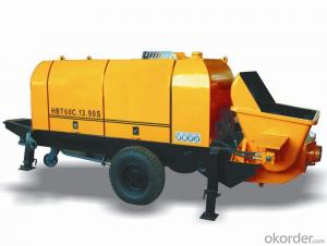 HBT motor S-valve series Concrete Pump Trailer