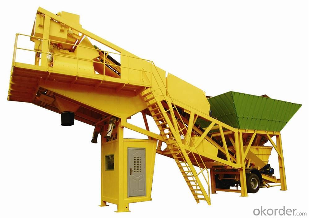 HZS50 Mobile Concrete Batching Plant
