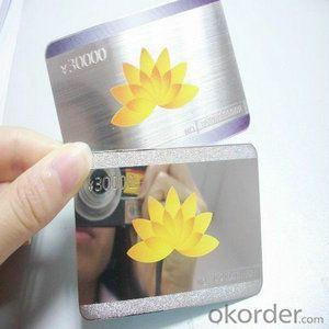 stainless steel business cards with metal material