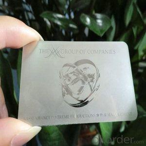 metal business card Stainless steel business card