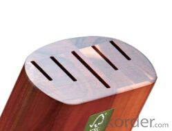 knife seat,F-KB005 acacia wood knife seat,your best choice