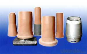 Refractory Tundish upper nozzle and collect nozzle