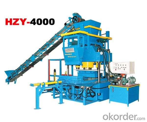 Hydraulic single pressure block machine HZY4000