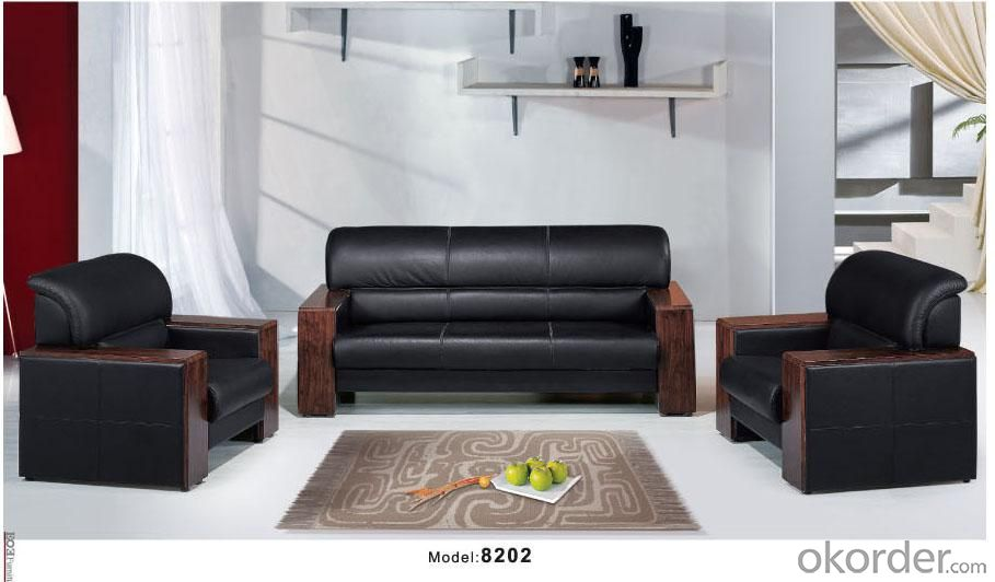 Office Sofa Office Furniture 2015 High Quality Leather Office Sofa 8202
