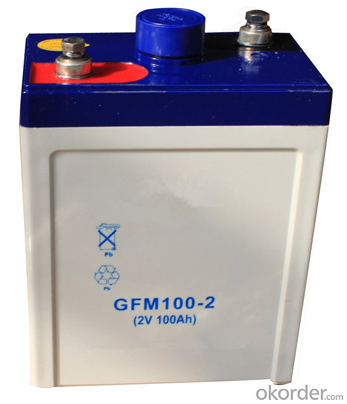 storage battery widely used in solar energy 2V,GFM100-2