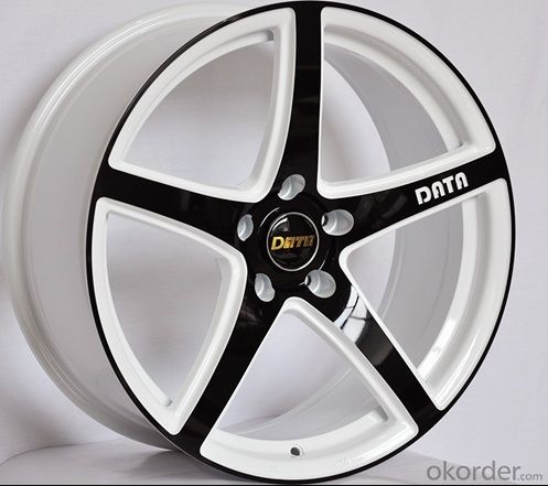 Aluminum Wheel Rim for all car with 5 Spoke white