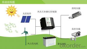 Street Light Controller 24V Economical Wind Solar Hybrid