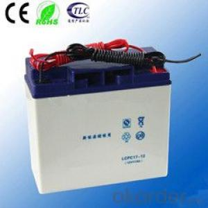 solar deep cycle gel battery CE Approved 12v 17ah