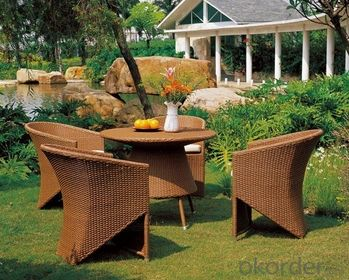 Fashionable Artificial Wicker Classic Dining Furniture