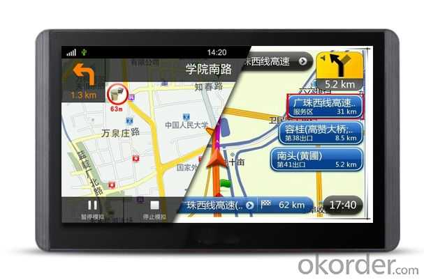 Android 4.2Quad Core Car GPS navigation wifi gps navigator with sim card