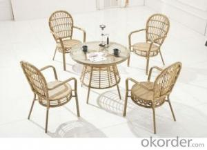 Round Rattan Wicker Furniture Garden Dining Set