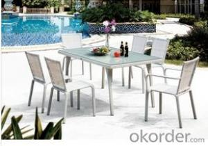 Outdoor Garden Poly Rattan White Dining Patio Rattan Furniture