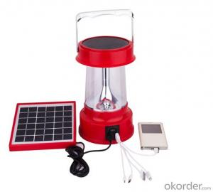 Solar lantern with AC charger and PV module