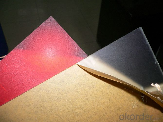 CMAX- COLORED  EMBOSSED CAST ARYLIC SHEET