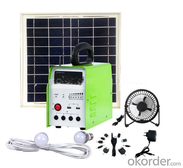 DC Solar Light System Solar System W/Radio for Home Use