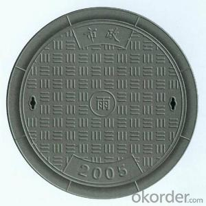 Manhole Cover EN124 D400 for Pedestrian Areas,Cold Applied Black Bitumen