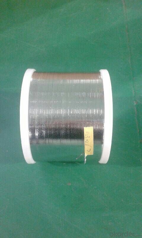 Ribbon for  bussing  for PV modules connnection