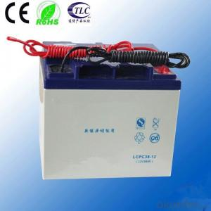 battery free maintenance battery 12v 38ah