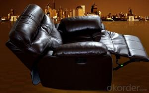 Leather Sofa,Modern Recliner Sofa, Manual Recliner