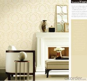 PVC Wallpaper Modern Design Thick PVC Wallpaper with Deep Pattern