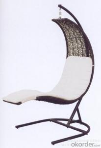Garden Wicker Swing Chair Aluminum  Rattan Outdoor  Furniture