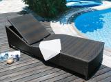 Silla de mimbre para jardín con marco de aluminio, Mobiliaria de exteriores para patio de PE ratán