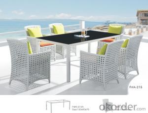 Garden Wicker Table Aluminum Frame PE Rattan Outdoor Patio Furniture