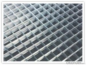 Reinforced Welded Mesh Panel Black Galvanized  for Reinforced Concrete Construction