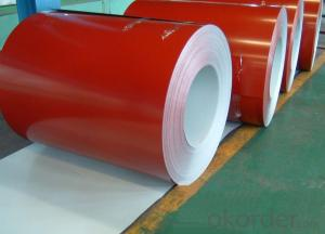Prepainted galvanized rolled steel coil