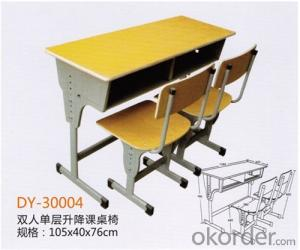 School Adjustable Student Double Desk and Chair  2015 Hot Sale DY-30004