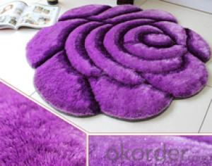 Feather Yarn Carpets Hand Knotted for Bedroom