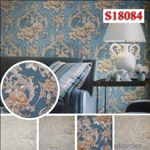 PVC Wallpaper 2015 New Design Good Quality Wallcovering for Home Interior