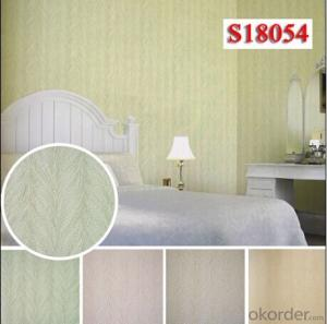 PVC Wallcovering Flower Pattern Wholesale Commercial Wallpaper