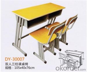 Adjustable Single Desk with two-layer Drawer and Chair  DY-30010